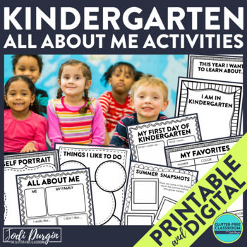 First Day of School KINDERGARTEN: A Clutter-Free Back to S