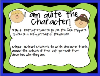 I am quite the character! - Character Trait Activity