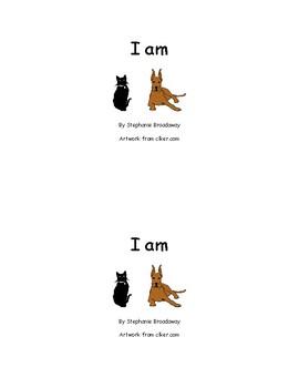 I am sight word little reader book Kindergarten