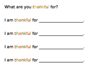 I am thankful for.....