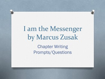 I am the Messenger, by Markus Zusak - Writing Prompt/Quest