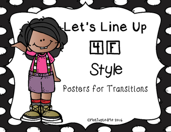 Classroom Management Transitions Posters (4 colors)