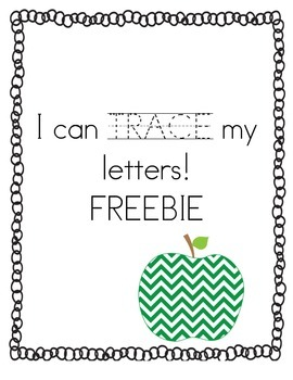 I can TRACE my letters! FREEBIE