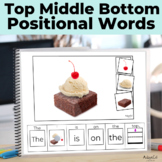Positional Words- Top, Middle, Bottom BUNDLE Interactive E