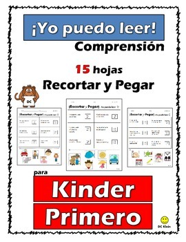 I Can Read! Cut-and-paste simple sentences (in Spanish)
