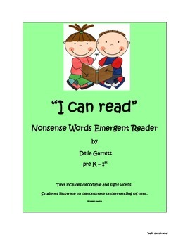 I can read! Nonsense emergent reader