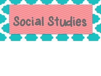 I can social studies board **EDITABLE**
