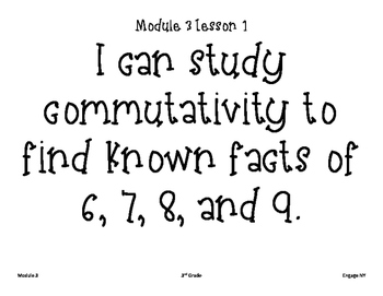 I can statements for Module 3 Engage NY