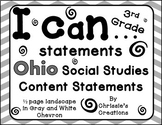 I can statements for Ohio third grade social studies in gr