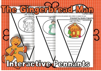 The Gingerbread Man Interactive Pennants