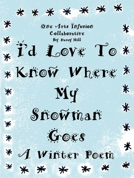 I'd Love To Know Where My Snowman Goes Winter Poem