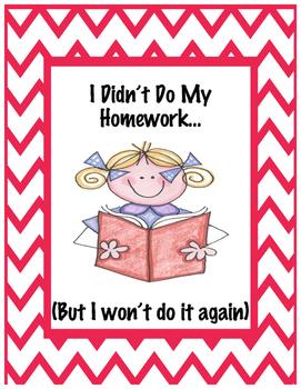 I did't do my homework! - homework binder - homework tracker