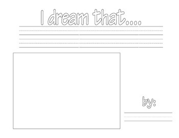 I dream that... writing template