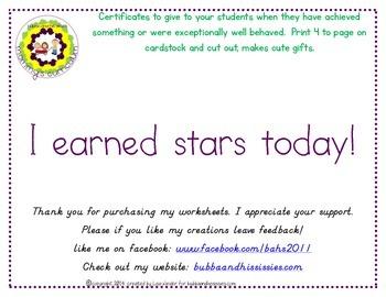 I earned stars today!