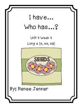 I have Who Has? First Grade Reading Treasures Unit 4 Week 4
