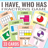 I have, Who Has Fractions Game - Fractions Unit
