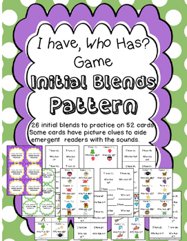 I have, Who Has Game? For Initial Blends