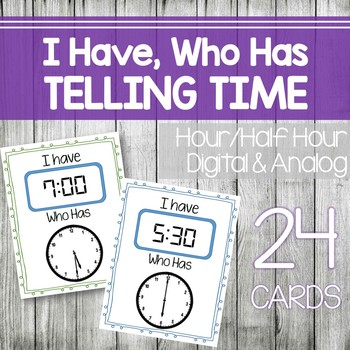 I have, Who Has Telling Time