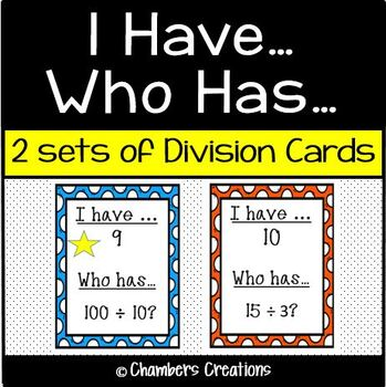 I have..Who has.. DIVISION.. 2 games of 12 cards each- GRE
