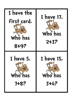 I have, Who has Doubles+1 Addition
