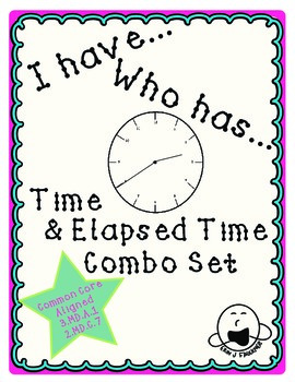 I have... Who has... Elapsed Time and Time Games, Combo Set
