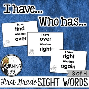 First Grade Sight Words (3 of 4)