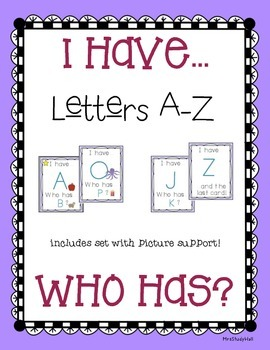 I have, Who has... LETTER recognition (picture support)