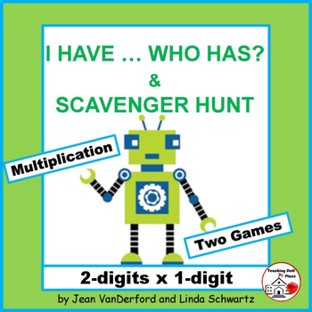 I HAVE...WHO HAS? | Multiply 2-digits x 1-digit | Math Gam