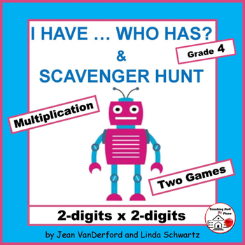 I HAVE...WHO HAS? | Multiply 2-digits x 2-digits |Review |