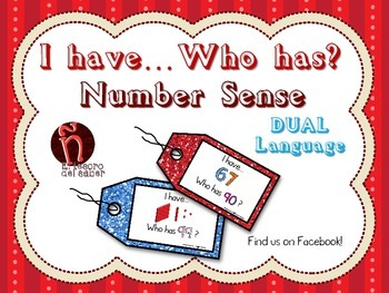 I have, Who has - Number Sense Math Game - DUAL Language