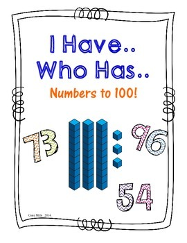 I have, Who has - Numbers to 100