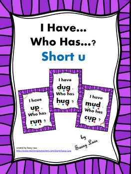 I have... Who has..? Short U Common Core Aligned