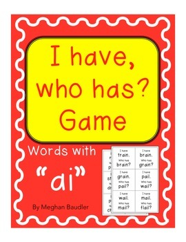 """I have, Who has, game with vowel team """"ai"""""""