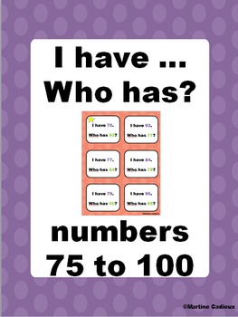 I have... Who has? numbers 75 to 100