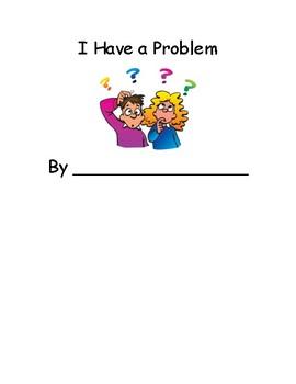 I have a problem kindergarten writing