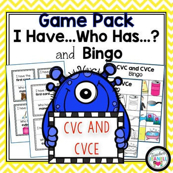 CVC and CVCe - I Have, Who Has and Bingo Game Pack