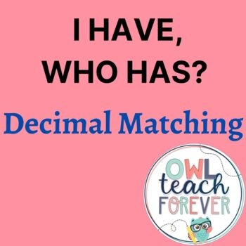 I have, who has Decimal Game