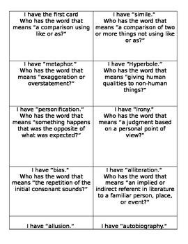 I have who has English vocabulary