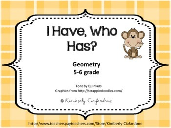 I have who has game of Geometry Terms