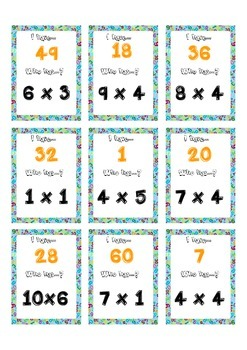 I have who has multiplication tables