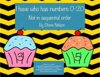I have who has numbers 0-20 cupcake theme (Not in sequenti
