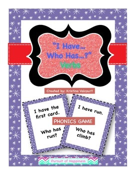 """""""I have…Who Has"""" Game - Verbs"""