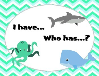 I have...Who has... Beach/Ocean Themed