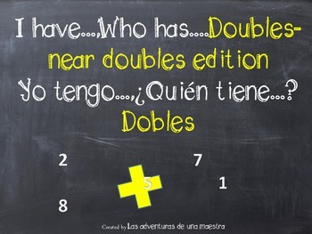 I have...,Who has... Doubles & near doubles edition