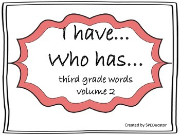I have...Who has...Third Grade Dolch Sight Words--Volume 2