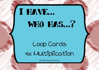 I have...who has... Loop game for multiplication x9