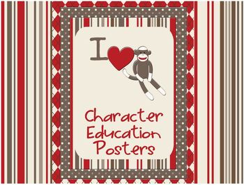 Sock Monkey Classroom Decor - Character Education Posters