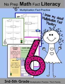 "3rd Grade Math: I know My ""6"" Multiplication Facts: Math F"