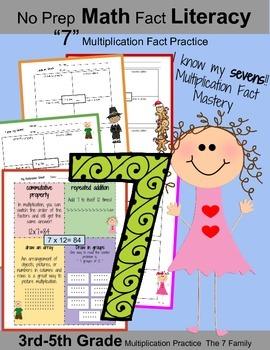 "3rd Grade Math: I know My ""7"" Multiplication Facts: Math F"