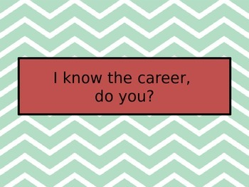 I know the Career, do you?